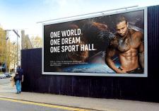 Рекламная вывеска для фитнес-зала