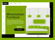 Начальная страница для сайта продажи мебели