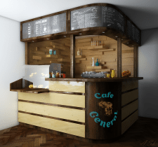Дизайн и визуализация барной стойки