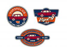 Наклейки-лого для клуба ретро-автомобилей