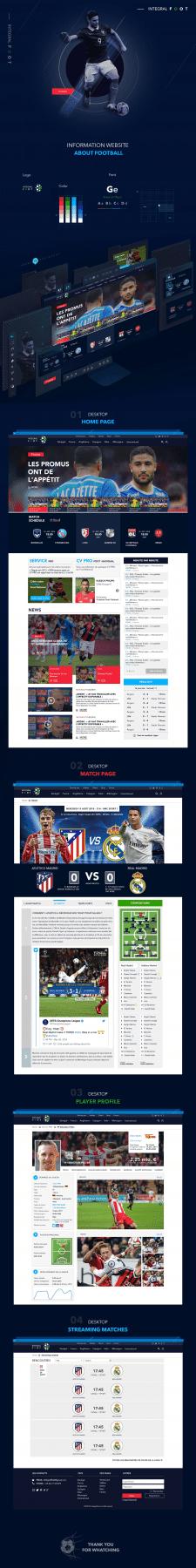 Дизайн сайта для футбольных трансляций