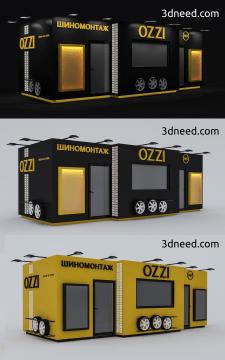 Дизайн и визуализация станции шиномонтажа