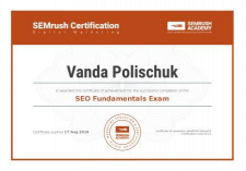 Сертификат SemRush SEO Fundamentals