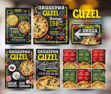 Серия баннеров и указателей для пиццерии