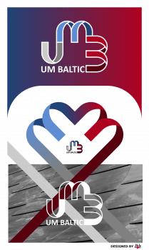 Логотип для компании по металлообработке UM Baltic