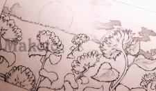 Подсолнуховое поле (минималистичная прорисовка)