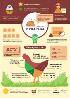 Постер-инфографика для производителя курицы-гриль