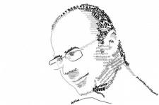 Типографика. Портрет из символов и букв