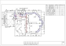План ОВ для двохмоперхового будинку. Перший поверх