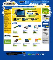 Дизайн интернет магазина oscomp