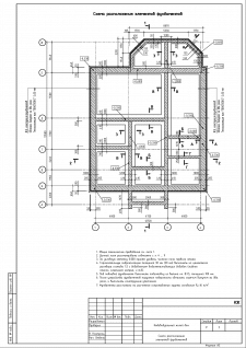 КЖ. Лист 3. Схема располож. элементов фундаментов