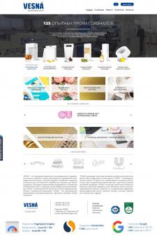 Разработка корпоративного сайта для VESNA