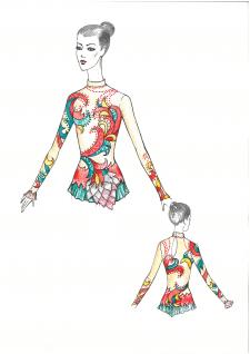 Дизайн купальника для художньої гімнастики