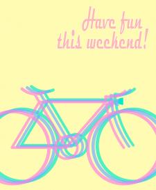 Дизайн постера на вело-тему
