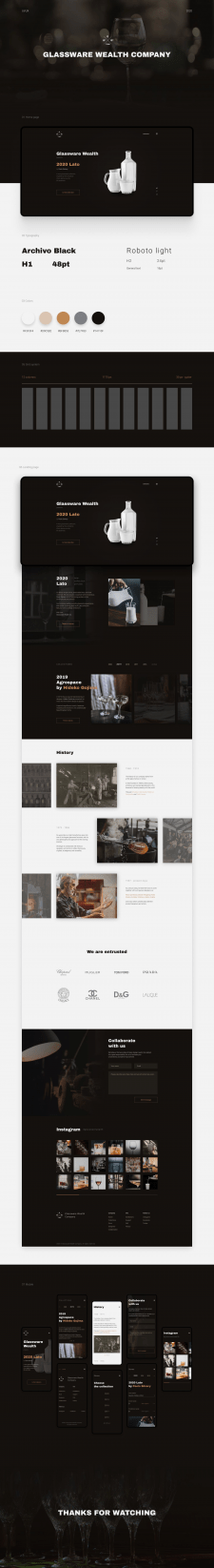Glassware Wealth Company - Landing page