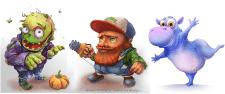 cartoon characters design