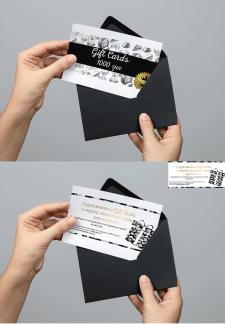 """Дизайн Gift card ТМ """"Сырное королевство"""""""
