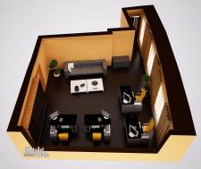 Визуализация планировки офиса