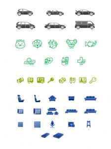 Подборка авторских иконок для сайта.