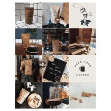 Создание визуального контента для магазина кофе