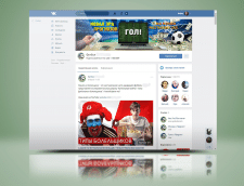 Обложка VK для футбольного паблика