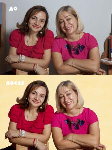 замена фона/ретушь/цветокоррекция