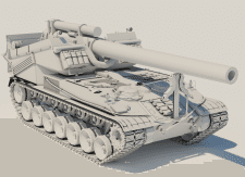 Танк САУ Т-92 (USA) М 1:1