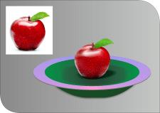 отрисовка яблока