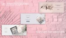 Баннеры для бренда Les interchangeables