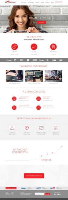 Сайт для компании DAU-UP ClicksMob (Израиль)