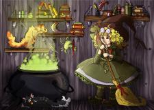 Дом маленькой ведьмочки