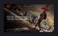 Концепт сайта Deadpool 2