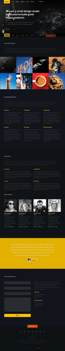 KREO Landing page