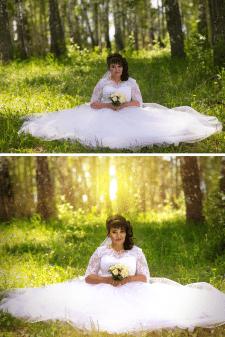 Художественная ретушь свадебного фото