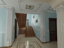 Вид на лестницу в частном доме