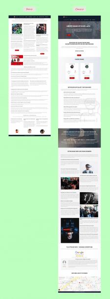 Редизайн  страницы на Elementor