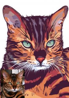 Портрет кота по фото