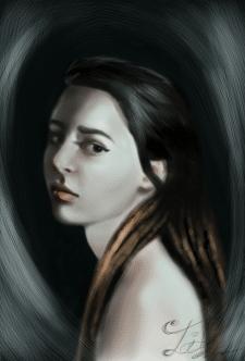 Портрет девушки с дредами