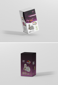package design for light bulbs and logo