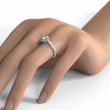 Ring on the hand RENDER