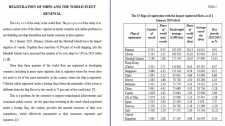 REGISTRATION OF SHIPS AND THE WORLD FLEET RENEWAL