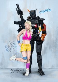 chappie robot. постер к фильму