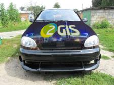 Визуализация брендирования машины 2gis