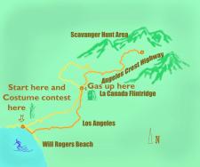 Карта Хеллоувинского авто пробега