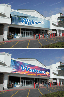Эскиз фасада Walmart