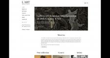 E-commerce art gallery