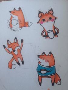 sketch fox