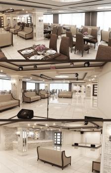 """Дизайн банкетного зала Арт-кафе """"Паприка"""""""
