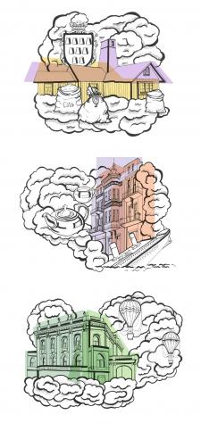 Создание иллюстраций туристического путеводителя