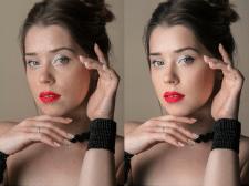 Портретная ретушь + цветокоррекция